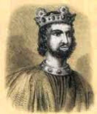 Knud (Canute), roi des Danois, regne aussi sur l'Angleterre