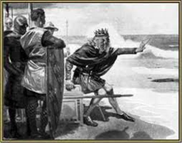 Knud, roi de l'Angleterre et du Danemark, s'empare de la Norvege