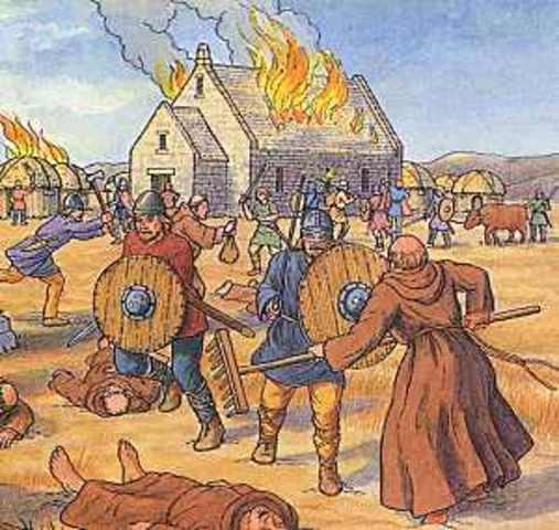 Les Vikings attaque des villes le long de la cote mediterraneenne