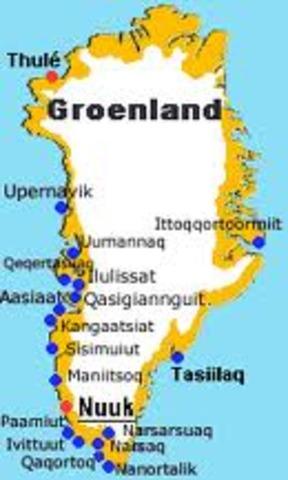 le chef viking Erik le Rouge decouvre Groenland.