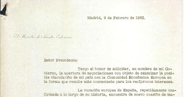 SOLIICITUD DE INGRESO EN LA CEE DE ESPAÑA (RECHAZADA)