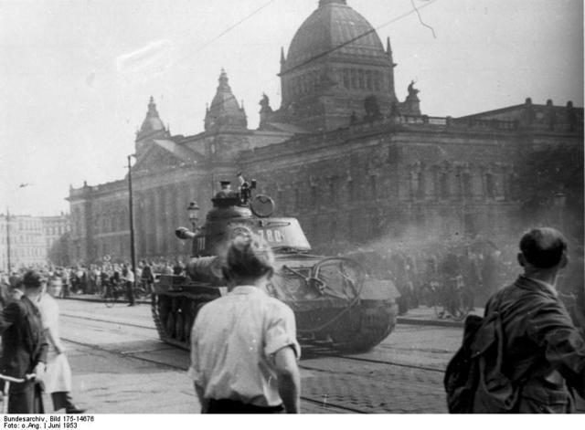 Huelgas en Berlín Este