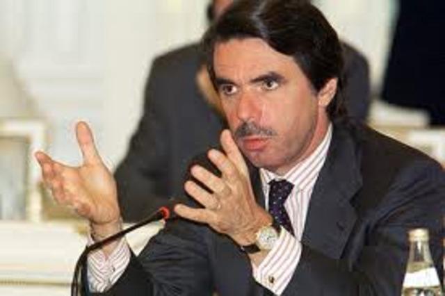 presidente del gobierno:jose maria aznar (PP)