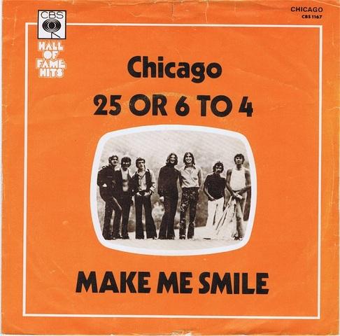 Chicago est devenu numero un group de rock avec leurs chanson, 25 or 6 to 4.