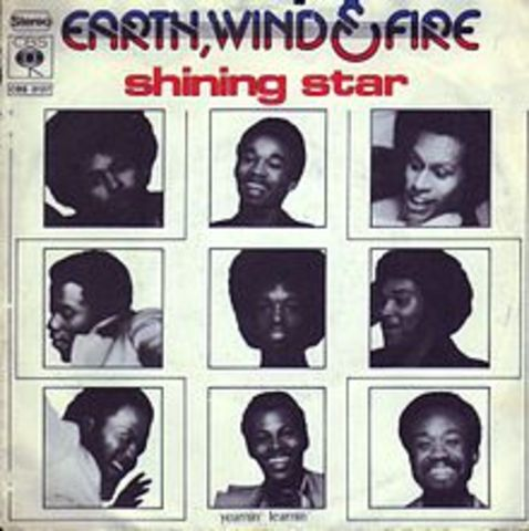"""Shining Star"" par ""Earth Wind and Fire"" est devenu numero un au hit-parade."