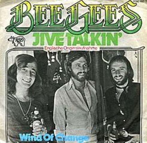 """""""Jive Talkin'"""" par """"BeeGees"""" est fait gross impression sur le Top 100 Billboard."""