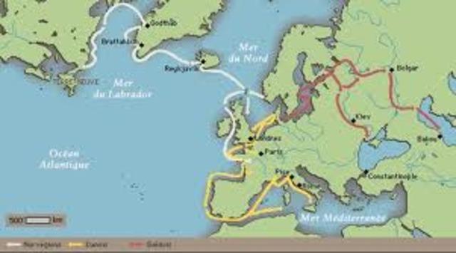 Les vikings abandonnent la colonie de Vinland sur la cote est de l'Amerique du Nord