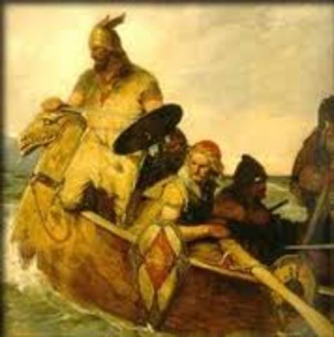 Etablissement de colonies de Vikings norvegiens a Dublin ailleurs en Irlande