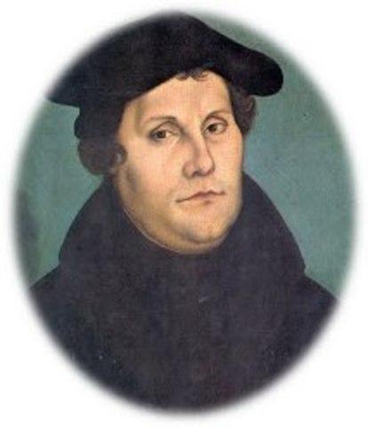 Inicio de la reforma protestante por Martín Lutero