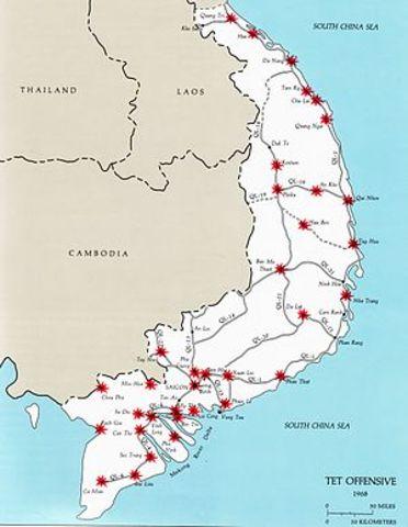 North Vietnamese launch Tet Offensive