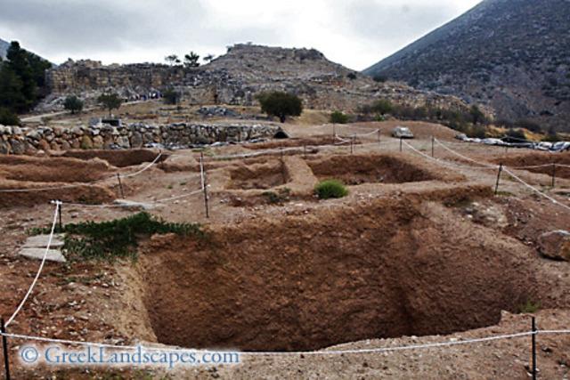 Thera Grave Circle B at Mycenae