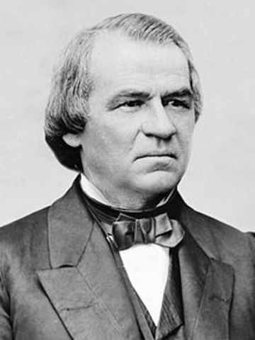 Andrew Johnson Formally Ends the War