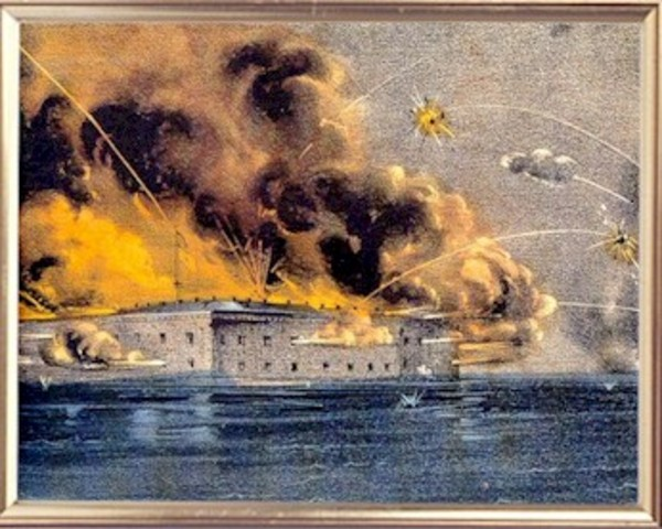 Confederates Fire on Fort Sumter in Charleston Harbor