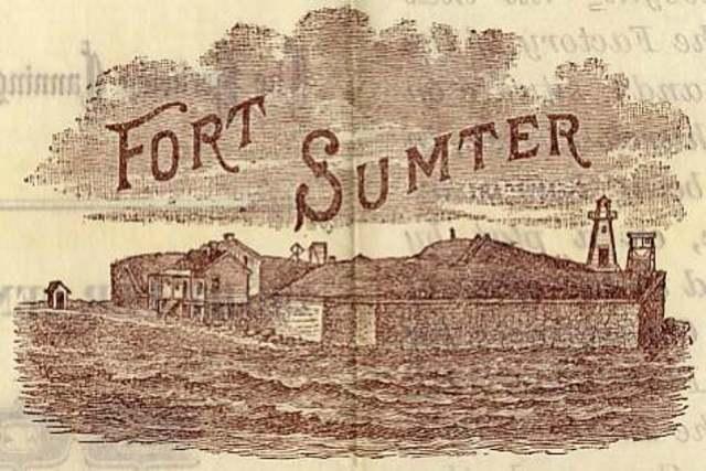 Fort Sumter Surrenders