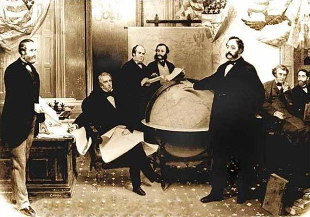 William P. Seward signs a treaty