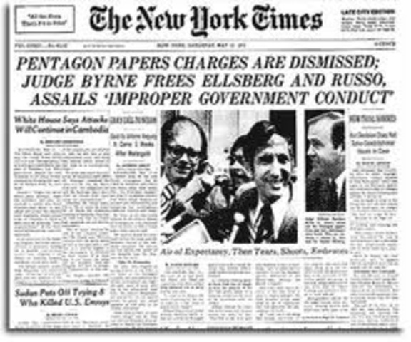 Publication of the Pentagon Papers