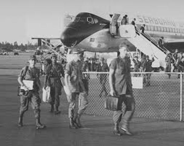 The last American combat soldiers withdraw from Vietnam