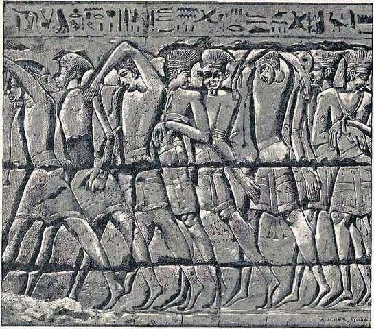 """""""Sea Peoples"""" begin raids in the Eastern Mediterranean"""