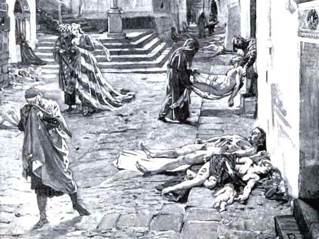 Black Death in Europe.