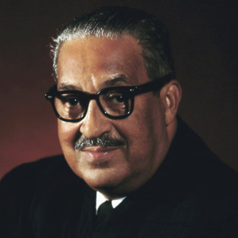 Thurgood Marshall sworn in as first black Supreme Court justice