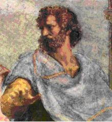 Aristotle enters the Plato Academy