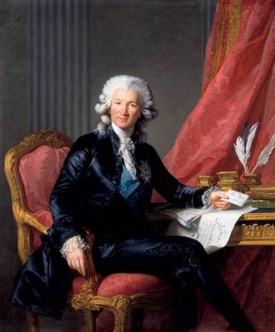 Charles Calonne 20 January 1734 – 30 October 1802