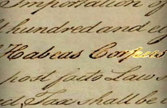 Lincoln suspension of Habeas Corpus