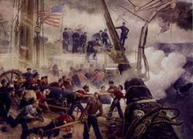 Farragut wins Battle of Mobile Bay