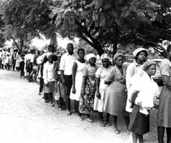 African Americans are given the right to vote.