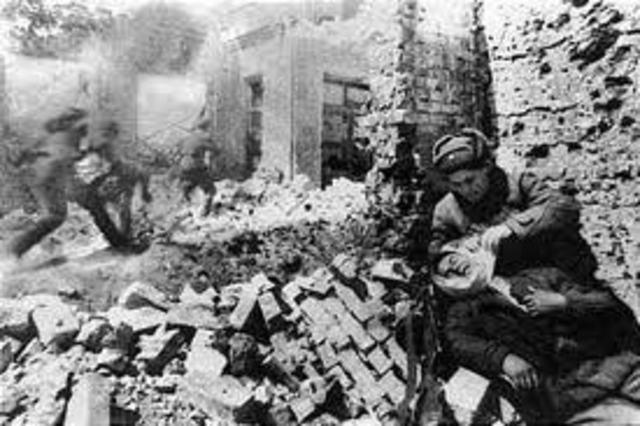 Derrota alemana por los rusos en Stalingrado