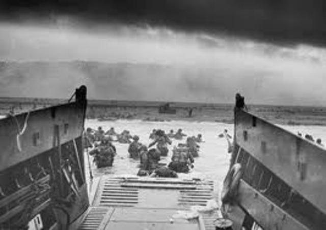 El desembarco de Normandía.
