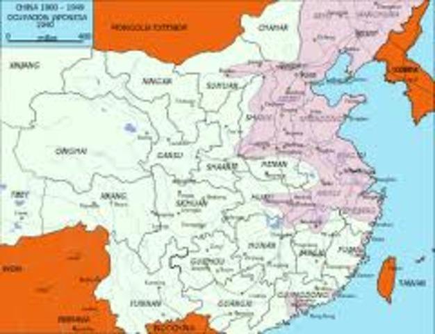 Invasión japonesa de China.