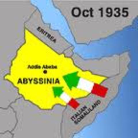 Italia invade Abisinia