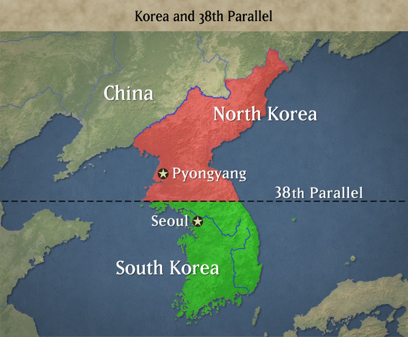 Allies Create the 38th Parallel