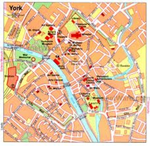 Etablissement d'un royaume a York,Angleterre par des Vikings