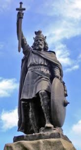Alfred cede une partie du territoire anglais aux dublin