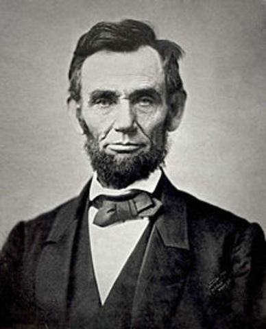Abraham Lincoln is elected President of the United States of America