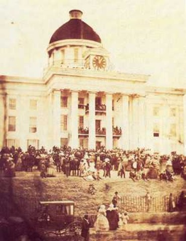 Seceded states held a Convention in Montgomery, Alabama.