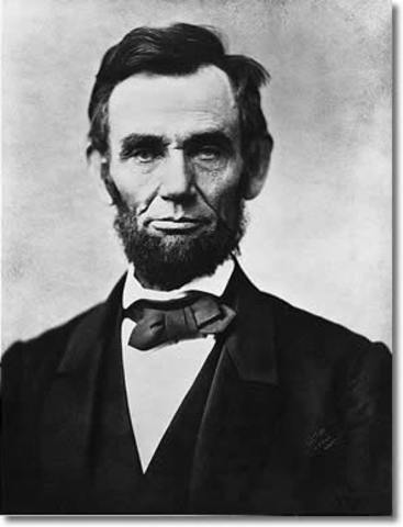 Abraham Lincoln speaks at the Cooper Institute in New York City.