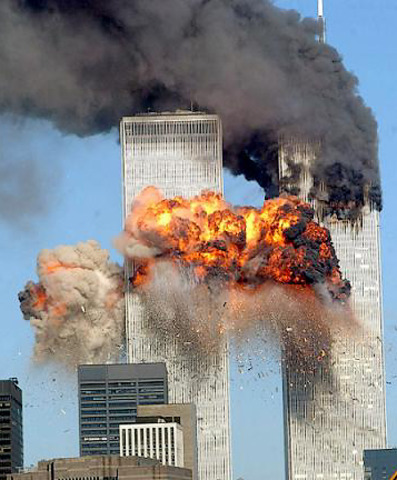 The Twin Towers and attacked