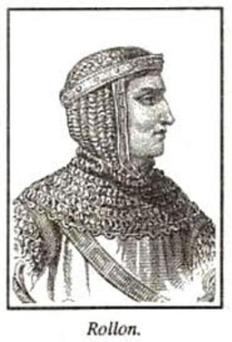 rollen obtient des terres fonde la normandie en france