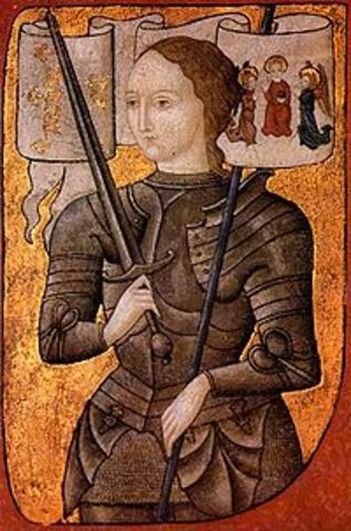 Joan of Arc lifts the siege of Orleans.