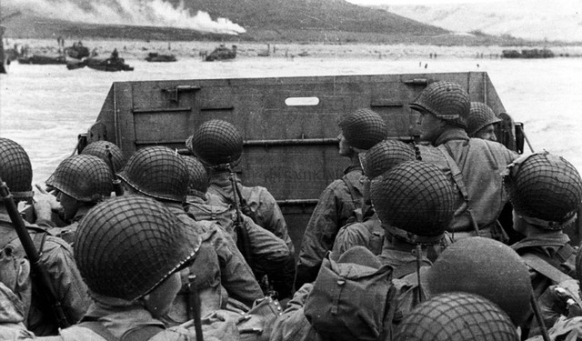 British and US troops successfully land on the Normandy beaches of France