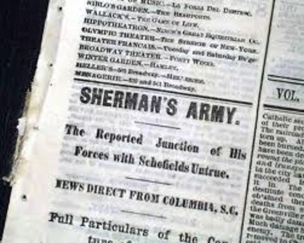 Sherman Captures Columbia