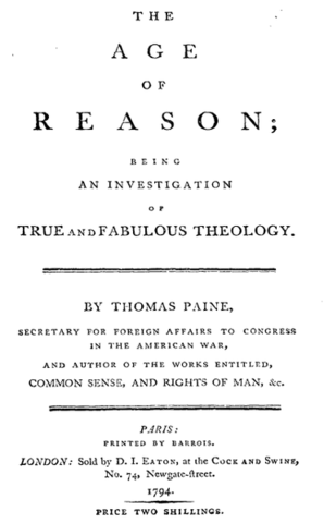 Thomas Paine publishes The Age of Reason
