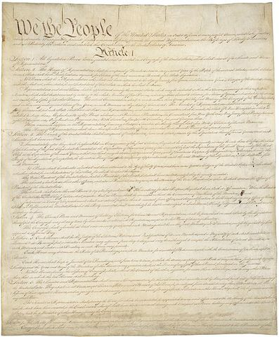 United States Constitution is adopted