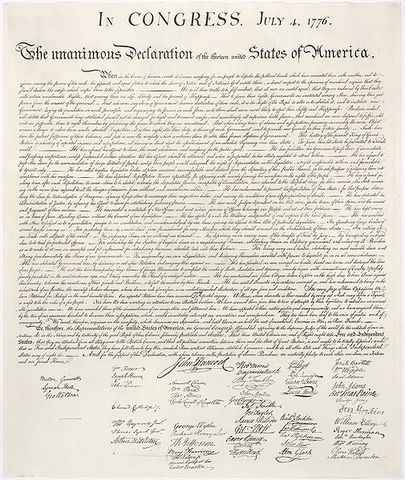 Decleration of Independence Ratified