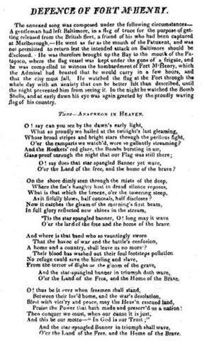 Star Spangled Banner Written
