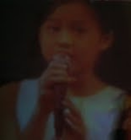 My first singing performance