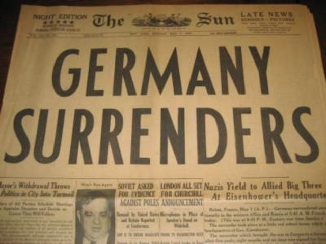 Germany Surrenders to the Allies